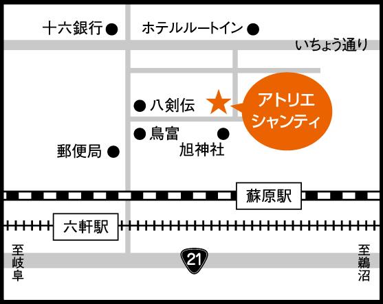 岐阜各務原教室の周辺地図