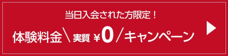 体験料金実質0円キャンペーン